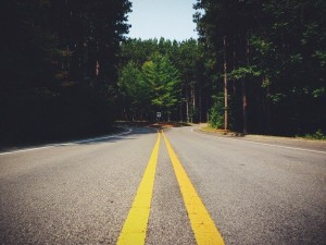 road-lines-symmetry-fork
